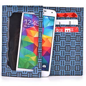 Paper Thin Tyvek Wallet - Universal Fit for ZTE Grand Era LTE V9800 Smartphone