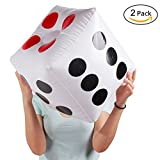 "Warmtree 13"" Jumbo Inflatable Dice, Pack of 2"