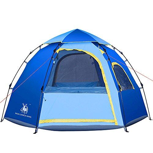 アート小説家単位登山テントダブル5-6人6アングルフリースピードテント屋外スポーツマンに適した耐候性サンスクリーン防水テント