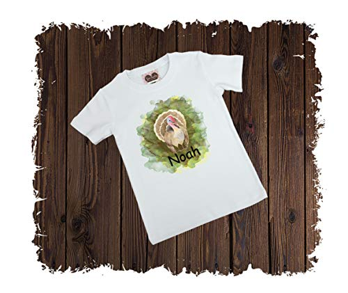 Turkey Personalized Watercolor Custom Printed T-Shirt - Available in Long or Short Sleeves