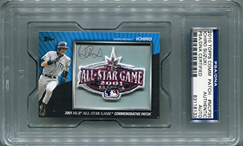 Ichiro Suzuki Seattle Mariners PSA/DNA Certified Authentic Autograph - 2010 Topps Commemorative Patch (Autographed Baseball Cards) (Seattle Mariners Autograph)