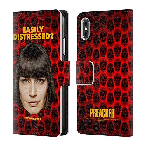 Official Preacher Featherstone Season 3 Character Art Leather Book Wallet Case Cover for iPhone X/iPhone Xs
