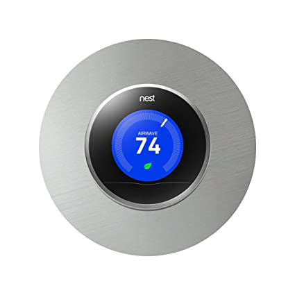 Nest Thermostat Wall Plate, 6 Inch, 2 Pack, Stainless Steel Cover Plate,