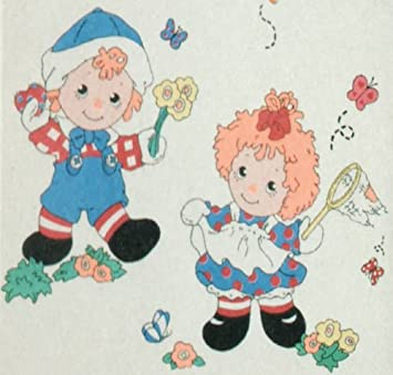 STICKERS *NEW* CLASSIC  Raggedy Ann /& Andy Jumbo Stick-Ups BY  Priss Print 20