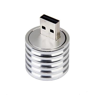 USB Douille de Lampe LED 3W Spotlight de Poche Base de Lumi¨¨re Blanc Forte