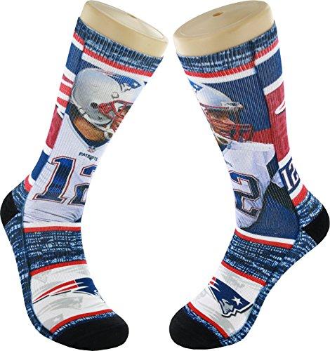 4bf0b3d7 For Bare Feet New England Patriots Tom Brady NFL Drive Socks ...