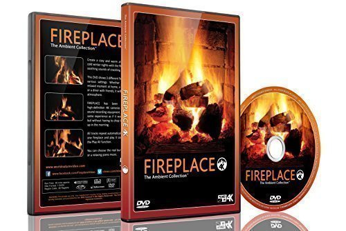 Fire DVD - Fireplace Filmed in HD of Long Wood Fires with Burning Wood Sounds or Music