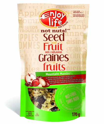 Enjoy Life Not Nuts! Mountain Mambo Seed and Fruit Mix, Gluten, Dairy, Nut & Soy Free,  6-Ounce Pouch (Pack of 6) (Packaging May Vary) (Soy Fruit Sweet)