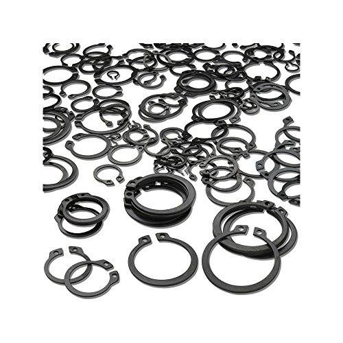 [해외]300 피스 C- 클립 외장 스냅 링 검정 와셔 하드웨어 Cir 클립 고정 링 세트 (산업용 패스너 용) 18 개 크기/300 Piece C-Clips External Snap Ring Black Washer Hardware Cir Clip Retaining Ring Set For Industrial Fasteners 18 Sizes
