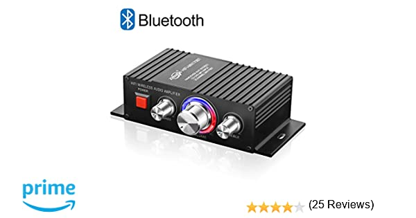 TTMOW Mini Amplificador Bluetooth 4.2 Digital 60W HiFi Audio Amp Super Bass para Tablet PC Portátiles Smartphone Auto Coche MP3 MP4 Altavoces, Color Negro: ...