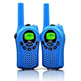 Walkie Talkies for Kids, 22 Channel Walkie Talkies 2 Way Radio 3 Miles (Up to 5Miles) FRS/GMRS Handheld Mini Walkie Talkies for Kids (Pai (Blue)