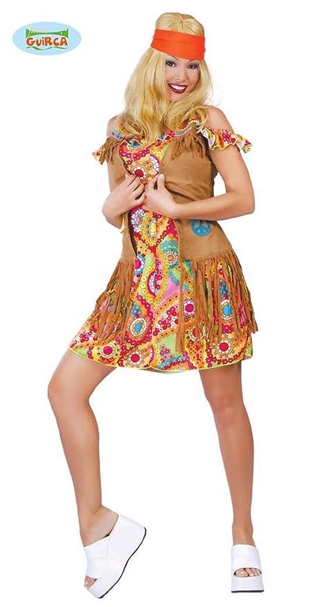 37edb823f86a COSTUME hippie FIGLIA DEI FIORI anni 70 VESTITO donna CARNEVALE festa a tema
