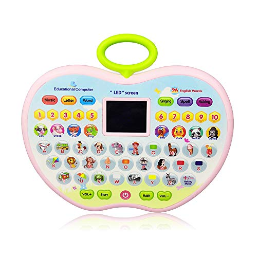 Toys Gift for 4 Year Olds Girl, Learning Toys for 1-3 Year Old Boys Baby Kids Tablet Toys for 2 Year Old Girl ToddlerApple Computer Toy for 5-6 Kid Girls -