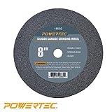 POWERTEC 15502 5/8'' Arbor 36-Grit Silicon Carbide Grinding Wheel, 8'' by 1''