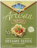 Cheap Blue Diamond Almonds Artisan Nut Thins Cracker Crisps, Sesame Seeds, 4.25 Ounce