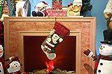 Classic Festive Decor Christmas Stockings 3D Cute Cartoon Santa Claus Stocking