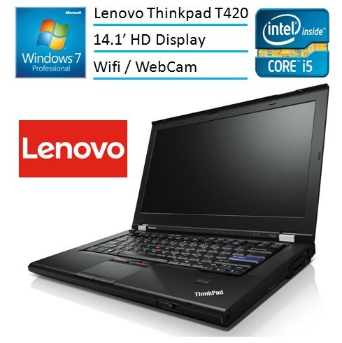 Lenovo IBM Thinkpad T420 Built Laptop PC (Intel i5-2520M Processor, 4GB Memory, 120GB SSD, Wifi, Webcam, DVD, Win 7 Pro) (Certified - Usb Cd Lenovo Thinkpad Ibm