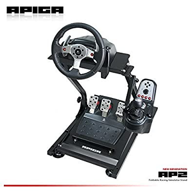Image of APIGA AP2 Foldable Racing Simulator Stand plus gearshift mount Games