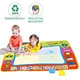 Magic Water Mat Painting Large Doodle Mat Suitable for 2 3 4 5 Years Boys Girls for Old Children Creative Painting Water Magic Mat Toddler Toys (1Doodle Mat 4 Pens 8 Painting Models)
