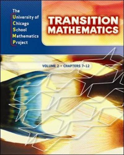 UCSMP Transition Mathematics: Student Edition, Volume 2/Chapters 7-12