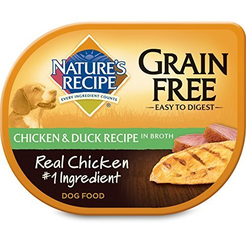 Nature's Recipe Wet Dog Food Easy to Digest Grain-Free Chicken & Duck Recipe In Broth, 2.75-Ounce Cup (Pack of 24)