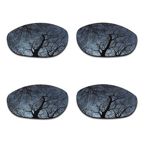 (2 Pair Polarized Lens Replacement for Oakley Monster Dog Black&Black)