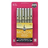 Sakura Pigma 50032 Micron Blister Card Ink Pen Set, Sepia, 003 Sepia 6CT