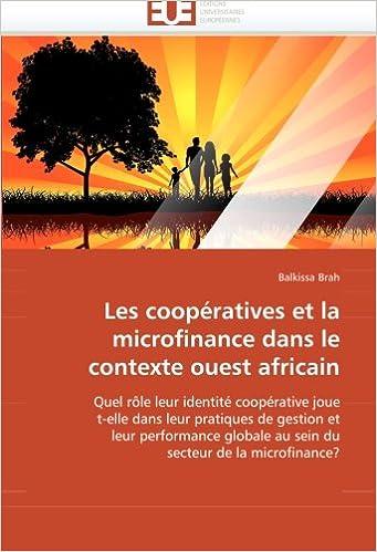 Livre gratuits Les Coopératives  Et La Microfinance Dans Le Contexte Ouest Africain epub, pdf