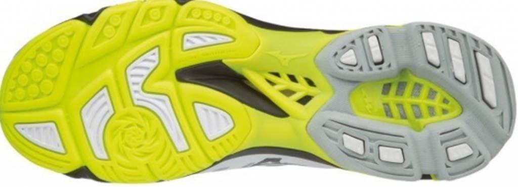 Mizuno Wave Lightning Z4 Sneakers voor heren Multicolour Wht Blk Yellow 001