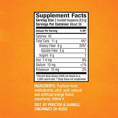 Metamucil Appetite Control Dietary Supplement Orange Zest Sugar-Free Powder, 36 Doses, 14.7 Ounce