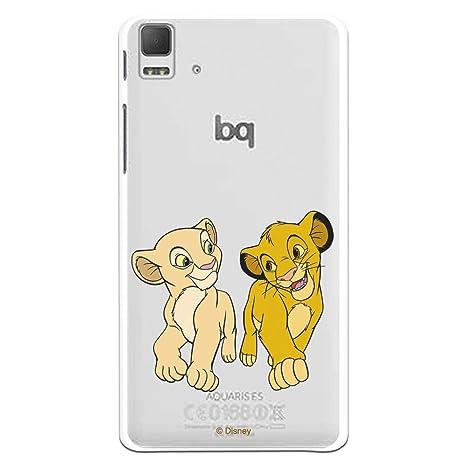 Funda para Bq Aquaris E5 - E5 HD Oficial de Simba y Nala ...