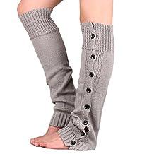 Tenworld Women Winter Gift Stretch Knitting Leg Warmers Boot Socks