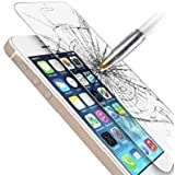 iPhone 5S iPhone SE Tempered Glass Screen Protector, SaharaCase for iPhone 5/5S/5C/SE .33m thickens [Smooth Edge] Anti Fingerprint Shatterproof Anti-Scratch Retail Package