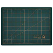 Lion Post Consumer Recycled Cutting Mat, 9 X 12-Inch, Green, 1 Mat (CM-30C)