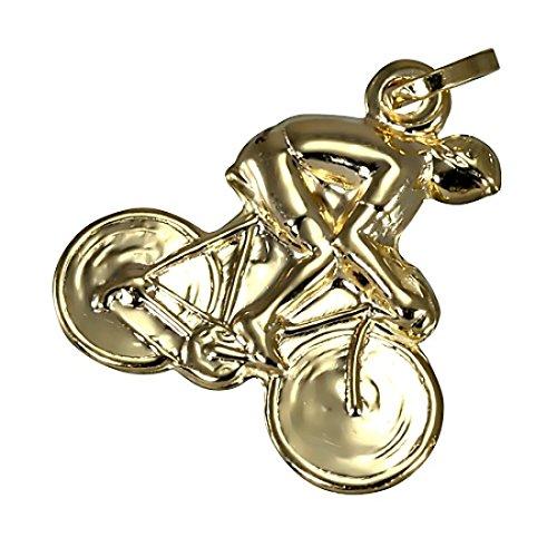 Charm Cycliste en Or Jaune 9 Carats