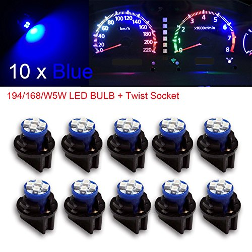 LncBoc T10 Canbus LED Bulbs 501 W5W 194 168 6SMD 7020 LED /& 4SMD 3030 LED White Light Wedge Replacement White Cars Sidelight Dome Number Boot Plate Light 6000K DC 12V Pack of 10