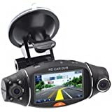 "Car Dvr 1080P 2.7"" LCD Screen Rotating Dual Len Vehicle DVR Road Dash Cam Video Camera Recorder Traffic Dashboard Recorder"