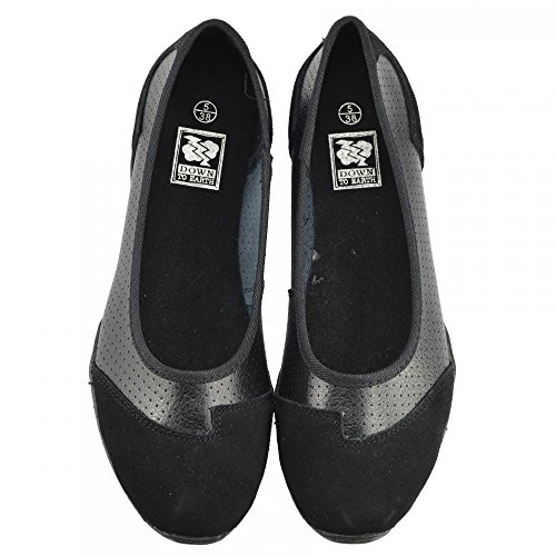 Kick Piatto Ladies Del Scarpe Nero Pompe Dolly Footwear Balletto Donna Nero Di F80261 Ballerina Mocassini Nuove 4FTnH4qfwr