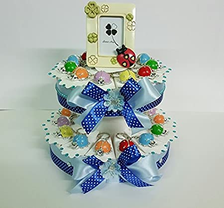 Tarta Decoración Mariquitas colores a portachiave cumpleaños ...