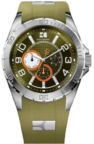 Hugo Boss Orange 1512813 Green Chronograph Men's Watch