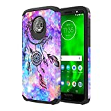 Moto G6 Case, Onyxii Hybrid Dual Layer Slim Graphic Armor Shockproof Impact Resistant Protective Cover Case for Moto G 6th Generation (Dream Catcher)
