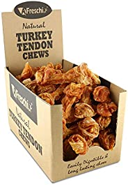 AFreschi Turkey Tendon for Dogs, Premium All-Natural, Hypoallergenic, Dog Chew Treat, Easy to Digest, Alternat
