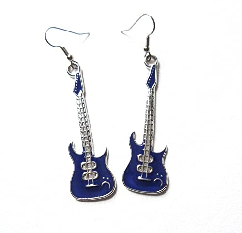 Handmade guitar earrings