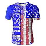 VN HNGD Wrestling American Flag Men's Casual Short Sleeve T-Shirts Top Tees