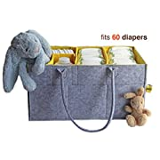 Baby Shower Gift Girls Storage Bins Large Baby Diaper Caddy Helps with Changing Table Nursery Storage Kids Toys Car Storage Diaper Bag Insert Organizer Portable Baby Storage Baskets