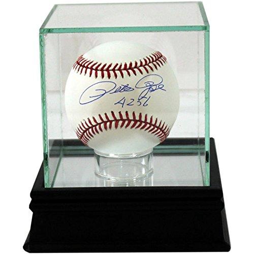 Steiner Sports Glass Single Baseball Display Case - Timeless Cherry Glass