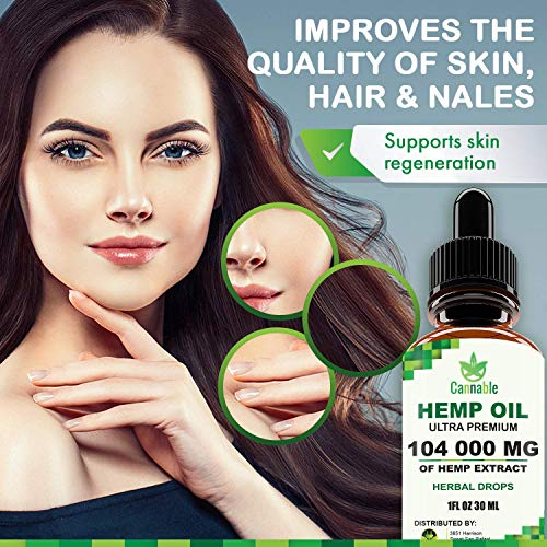 51s9jGTYyfL - Hemp Oil Extract 104 000 mg, All-Natural Drops for Pain, Stress, Anxiety Relief, Deep Restful Sleep