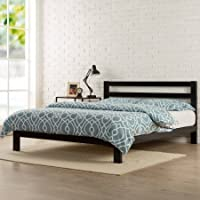 Zinus Modern Studio 10 Metal Platform Bed with Headboard (King)
