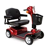 Pride Mobility - Maxima - Heavy Duty Scooter - 4-Wheel Scooter - Candy Apple Red - PHILLIPS POWER PACKAGE TM - TO $500 VALUE