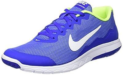 Nike Men's Flex Experience RN (Racer Blue/White/Volt/White) Running Shoe, 8.5 D(M) US